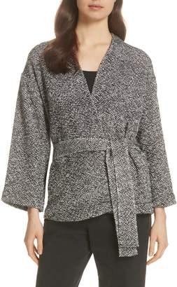 Eileen Fisher Cotton Tweed Kimono Jacket