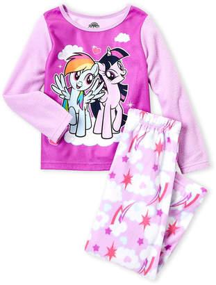 My Little Pony Toddler Girls) Two-Piece Purple Little Pony Fleece Pajama Set
