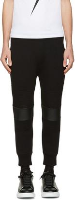 Neil Barrett Black Classic Biker Lounge Pants $620 thestylecure.com
