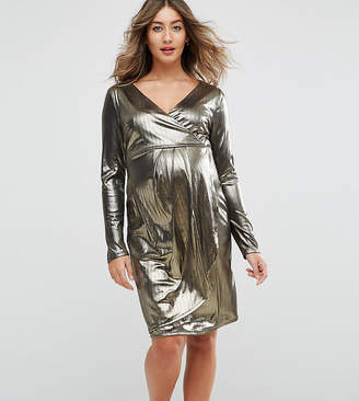 New Look Maternity Shimmer Wrap Dress