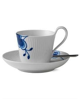 Royal Copenhagen Blue Fluted Mega High Handle T/Cup & Saucer
