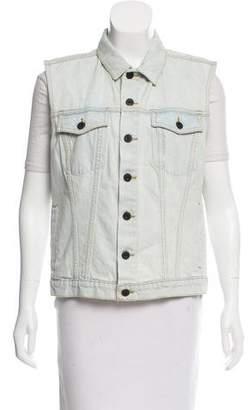 Proenza Schouler Denim Button-Up Vest