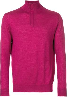 N.Peal Regent half zip sweater