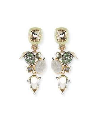Alexis Bittar Crystal Encrusted Lime Cer Clip On Earrings