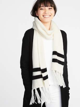 Old Navy Jacquard Sweater-Knit Fringe Scarf for Women