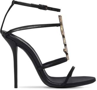 Saint Laurent 110mm Cassandra Logo Leather Sandals