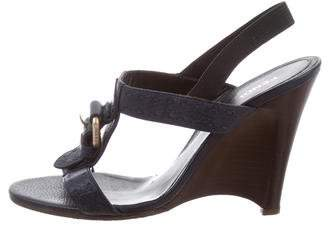 Fendi Buckle T-Strap Wedges