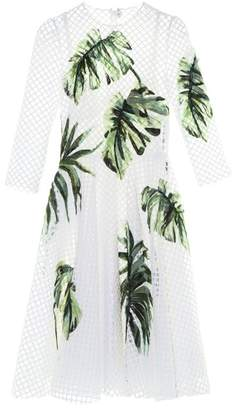Dolce & Gabbana - Hand Painted Net And Tulle Dress - Womens - White Multi
