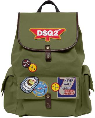 DSQUARED2 Patches Cotton Canvas Backpack