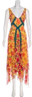 Jean Paul Gaultier Soleil Floral Maxi Dress