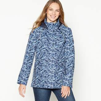 aaef59e463 Maine New England - Navy Leaf Print Rain Resistant Jacket