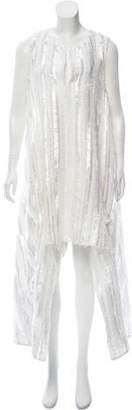 Thakoon Fringe-Trimmed High-Low Dress