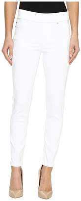 Liverpool Sienna Pull-On Ankle Slub Stretch Twill in Bright White Women's Jeans