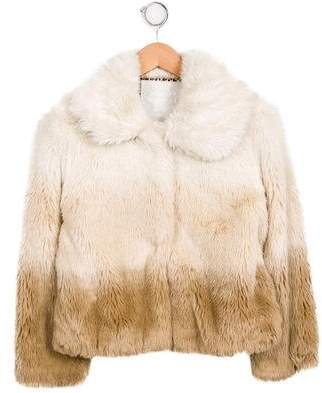 MonnaLisa Girls' Faux Fur Coat