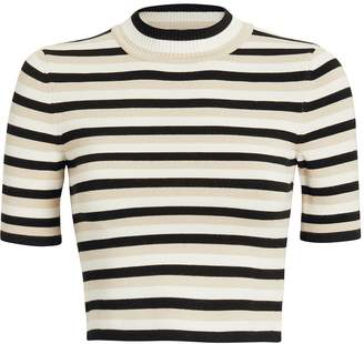 8172310fe Womens Black And White Stripe Crop Top - ShopStyle