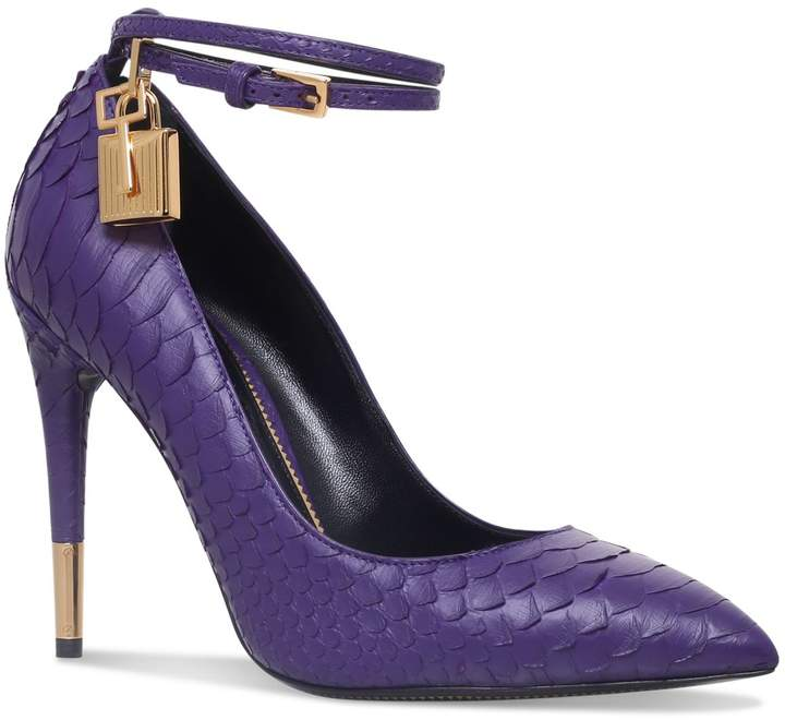 TOM FORD Padlock Snake Pumps 105, Purple, IT 38.5