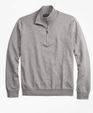 Brooks Brothers Supima Cotton Half-Zip Sweater