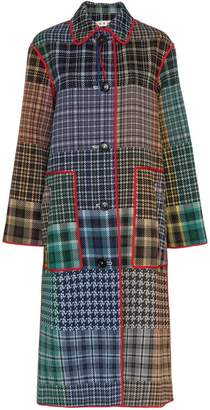 Marni Patchwork check print coat