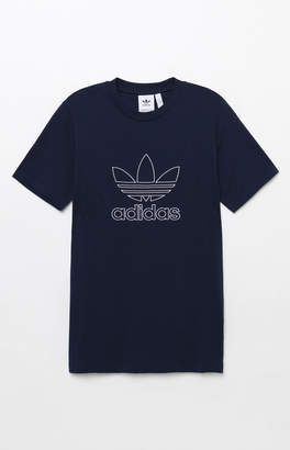 adidas Outline Navy T-Shirt