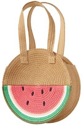 Crazy 8 Watermelon Straw Bag