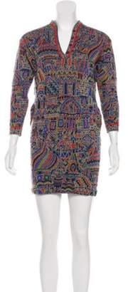 Missoni Wool Mini Dress Orange Wool Mini Dress