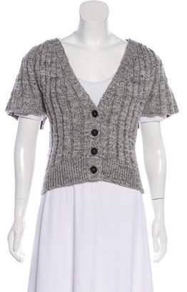 Co Short Sleeve Knit Cardigan