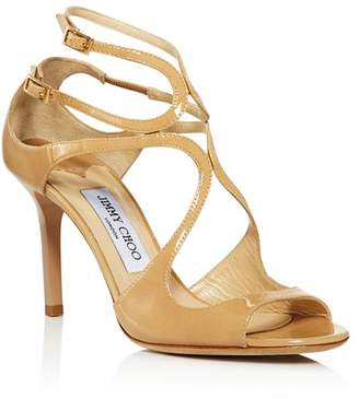 Jimmy Choo Women's Ivette 85 Patent Leather High-Heel Sandals