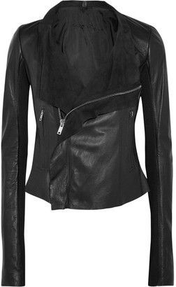 Rick Owens - Leather Biker Jacket - Black $1,805 thestylecure.com