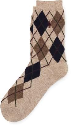 Ralph Lauren Argyle Wool-Blend Boot Socks