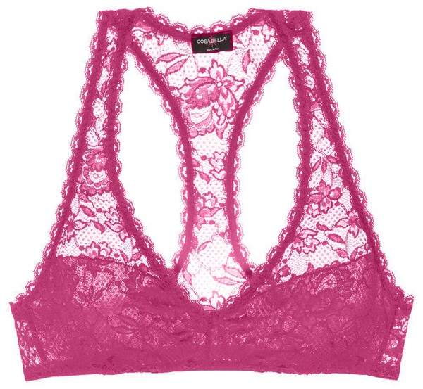 | Never Say Never Racie Racerback Bralette | Size M | Pink