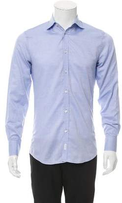DSQUARED2 Cutaway Collar Button-Up Shirt