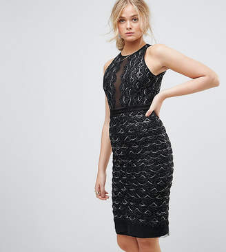 TFNC Tall Tall High Neck Mini Scallop Sequin Dress
