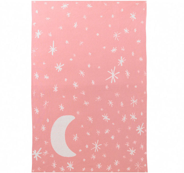 Mid-Century MODERN DwellStudio Graphic Knit Blanket - Galaxy (Pink)