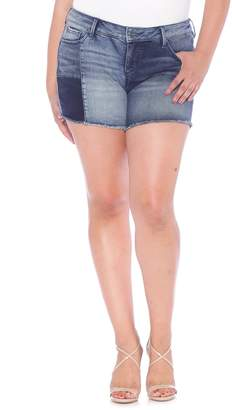SLINK Jeans Patchwork Denim Shorts