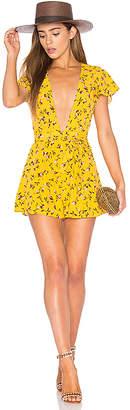 Privacy Please x REVOLVE Goodwin Romper in Yellow $178 thestylecure.com