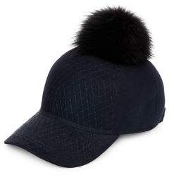 Lafayette House of For Fur Pom-Pom Baseball Cap