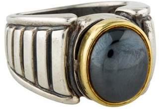 CAViAR Two-Tone Hematite Cocktail Ring