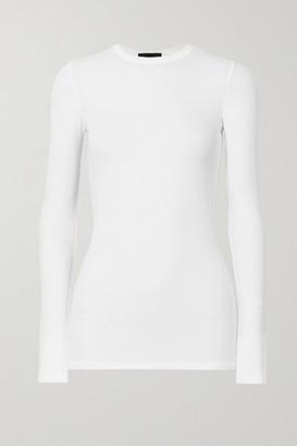 ATM Anthony Thomas Melillo Ribbed Stretch-micro Modal Top - White