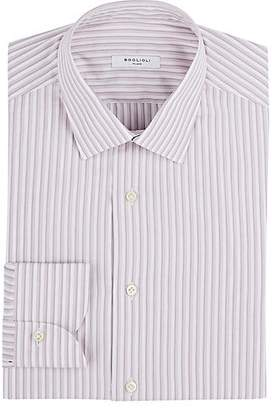 Boglioli Men's Striped Cotton Dress Shirt - Mauve