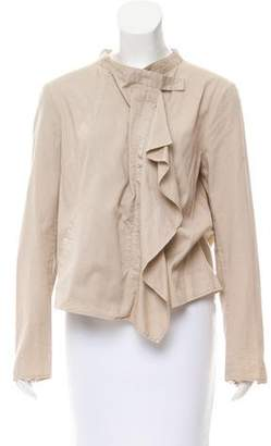 Hache Asymmetrical Collarless Jacket