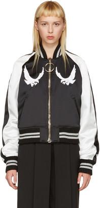Off-White Black & White Cropped Souvenir Jacket $1,665 thestylecure.com