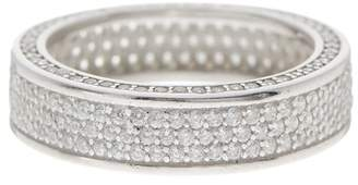 Savvy Cie Sterling Silver CZ Micro Pave Eternity Band