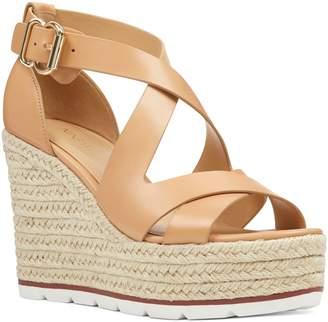 831019852 Nine West Beige Wedge Women's Sandals - ShopStyle