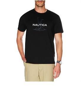 Nautica Anchor Flag Print Tee