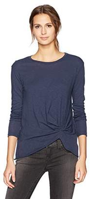 Stateside Women's Supima Slub Long Sleeve Twist Front Tee