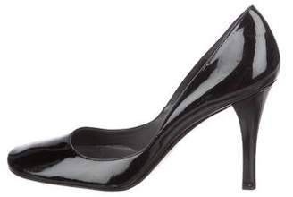 Delman Patent Leather Round-Toe Pumps