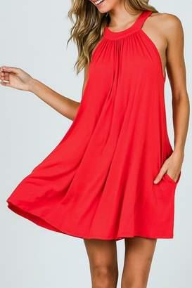 Cy Fashion Halter Pocket Dress