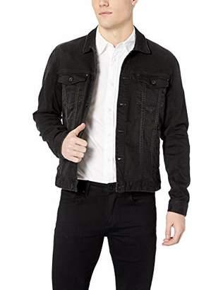 John Varvatos Men's Trucker Denim Jacket W. Dark Rider WASH