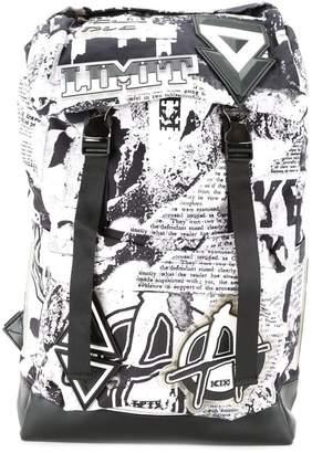 Kokon To Zai 'Newspaper print' backpack