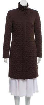 Les Copains Quilted Knee-Length Coat